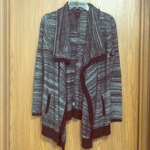 Ann Taylor XS Knit Cardigan Shrug Black
